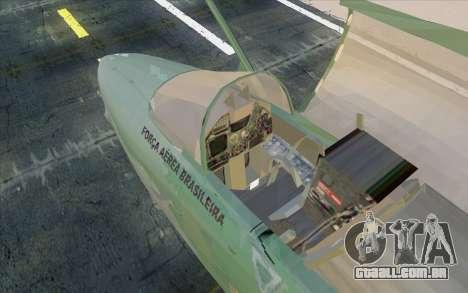 A-1M AMX para GTA San Andreas traseira esquerda vista