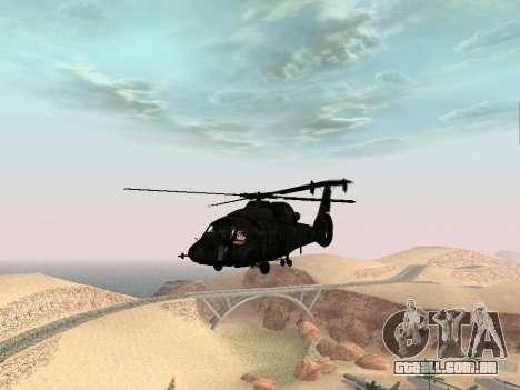 KA-60 para GTA San Andreas vista direita