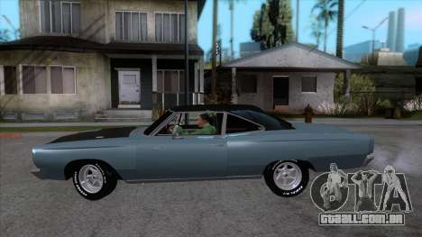 Plymouth Road RunneR 1969 para GTA San Andreas esquerda vista