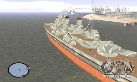 HMS Prince of Wales para GTA San Andreas terceira tela