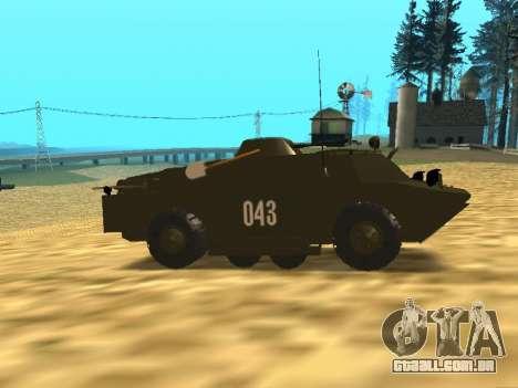 Guardas BRDM-2 para GTA San Andreas vista traseira