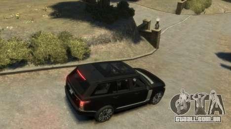Range Rover Vogue 2014 para GTA 4 traseira esquerda vista