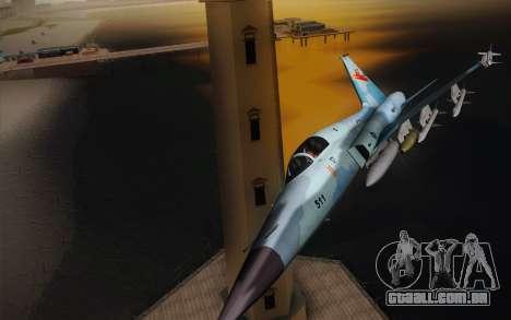 F-5E Tiger II para GTA San Andreas esquerda vista