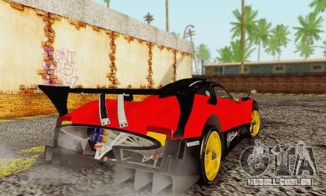 Pagani Zonda Type R Red para GTA San Andreas vista direita