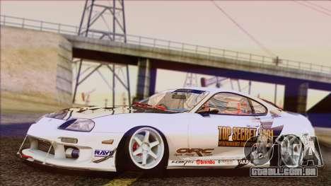 Toyota Supra 1998 Top Secret para GTA San Andreas traseira esquerda vista