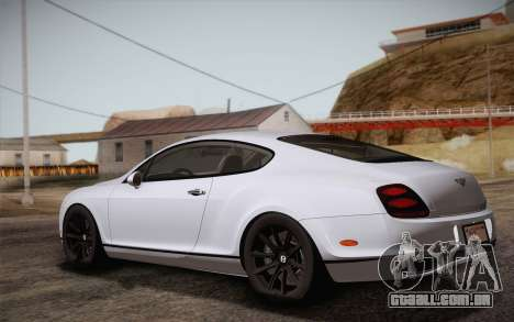 Bentley Continental SuperSports 2010 v2 Finale para GTA San Andreas esquerda vista