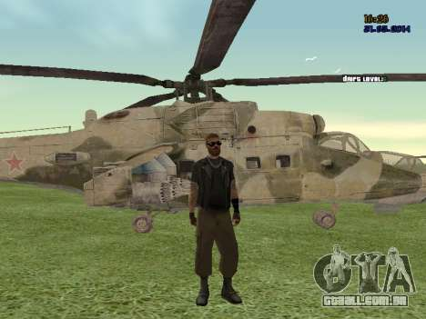 Mi-35M para GTA San Andreas vista direita