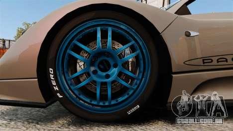 Pagani Zonda C12 S Roadster 2001 PJ1 para GTA 4 vista de volta