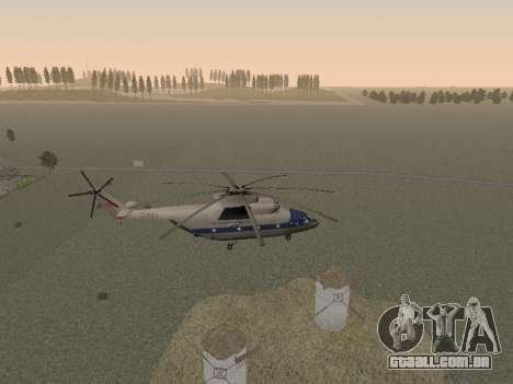 Mi 26 Civil para vista lateral GTA San Andreas