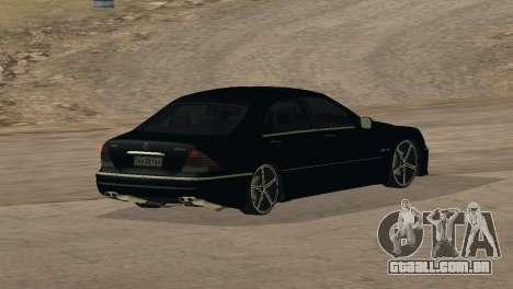 Mercedes-Benz S65 AMG para GTA San Andreas vista superior