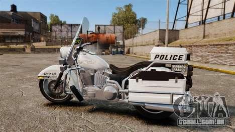 GTA V Western Motorcycle Police Bike para GTA 4 esquerda vista