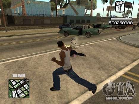 C-HUD By Kapo para GTA San Andreas por diante tela