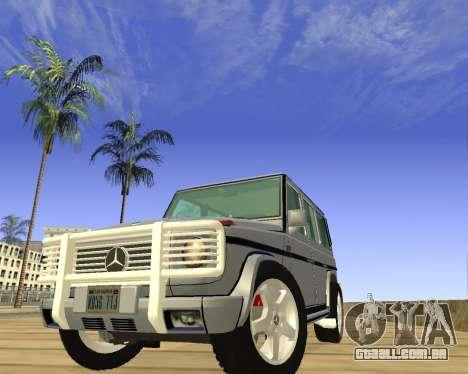 Mercedes-Benz G500 Brabus para GTA San Andreas vista traseira