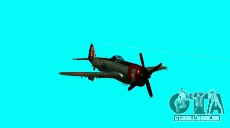 P-47 Thunderbolt para GTA San Andreas vista direita