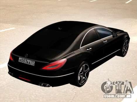 Mercedes-Benz CLS350 2012 para GTA San Andreas vista traseira