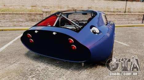 Shelby Cobra Daytona Coupe para GTA 4 traseira esquerda vista