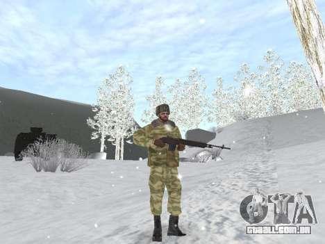 Pak exército russo serviço para GTA San Andreas oitavo tela