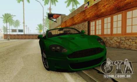 Aston Martin DBS Volante para GTA San Andreas esquerda vista