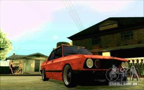 BMW M5 E28 RatStyle para GTA San Andreas vista interior