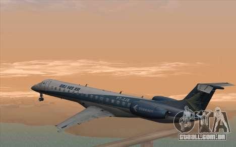 Embraer 145 Xp para GTA San Andreas esquerda vista