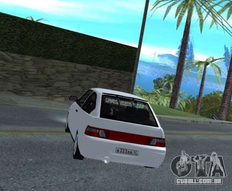 ВАЗ 2112 GVR Versão 1.1 para GTA San Andreas traseira esquerda vista