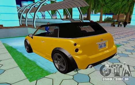 GTA 5 Weeny Issi V1.0 para GTA San Andreas traseira esquerda vista