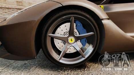 Ferrari LaFerrari v2.0 para GTA 4 vista de volta