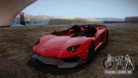 Lamborghini Aventandor J 2010 para GTA San Andreas esquerda vista