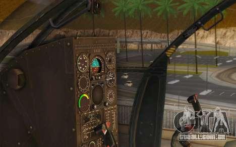 MH-6 Little Bird para GTA San Andreas vista traseira