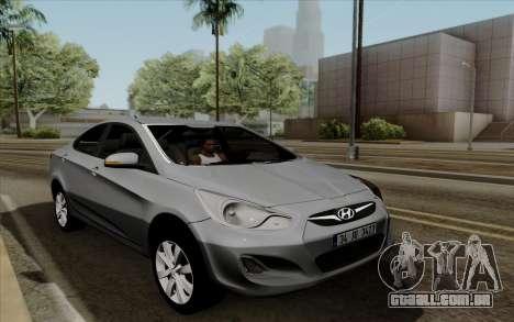 Hyundai Solaris para GTA San Andreas