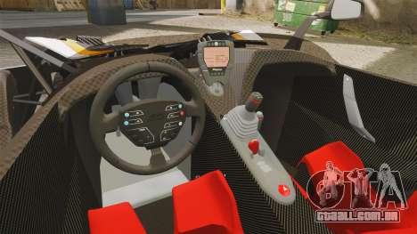 KTM X-Bow R [FINAL] para GTA 4 vista interior