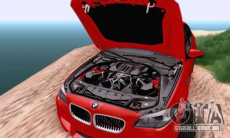 BMW F10 M5 2012 Stock para GTA San Andreas vista traseira
