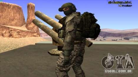 U.S. Navy Seal para GTA San Andreas sétima tela