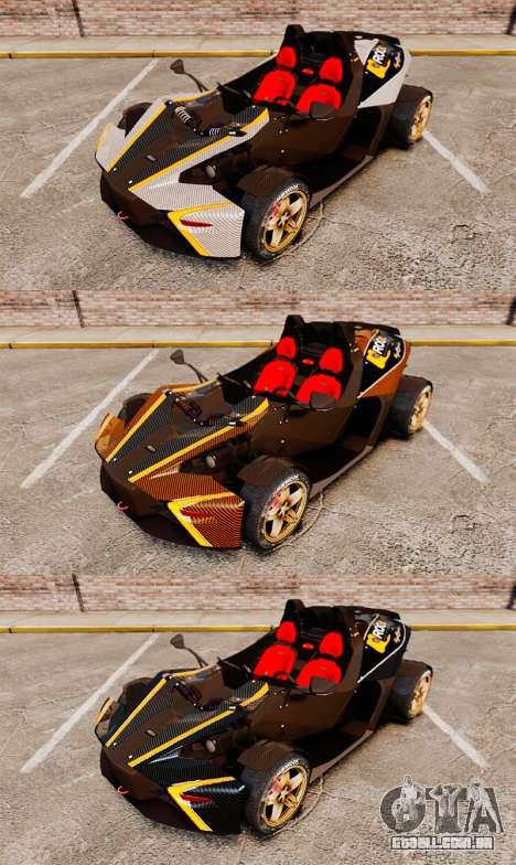 KTM X-Bow R [FINAL] para GTA 4 vista superior