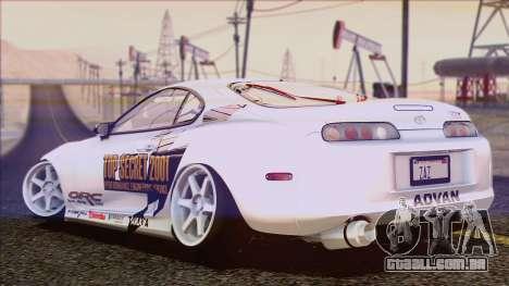 Toyota Supra 1998 Top Secret para GTA San Andreas vista inferior