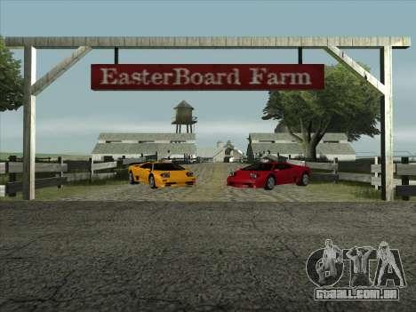Lamborghini Diablo SV para GTA San Andreas traseira esquerda vista