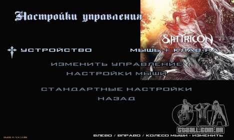 Metal Menu para GTA San Andreas quinto tela