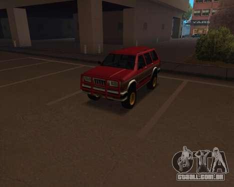Landstalker V2 para GTA San Andreas vista traseira