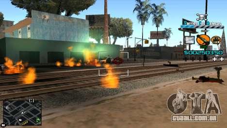 C-HUD RJ Aztecaz para GTA San Andreas por diante tela