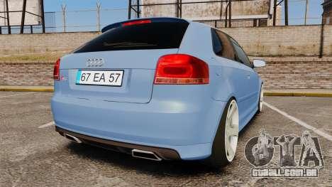 Audi S3 EmreAKIN Edition para GTA 4 traseira esquerda vista