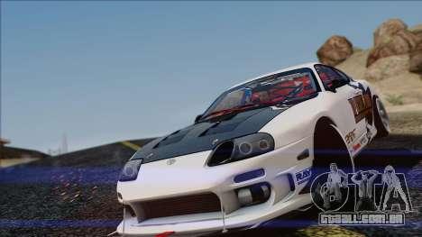 Toyota Supra 1998 Top Secret para GTA San Andreas esquerda vista