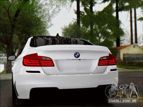 BMW 550 F10 VOSSEN para vista lateral GTA San Andreas