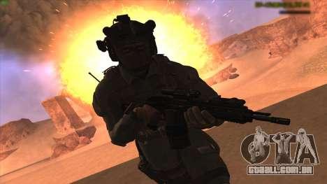 Sgt Keegan P.Russ из Call Of Duty: Ghosts para GTA San Andreas segunda tela