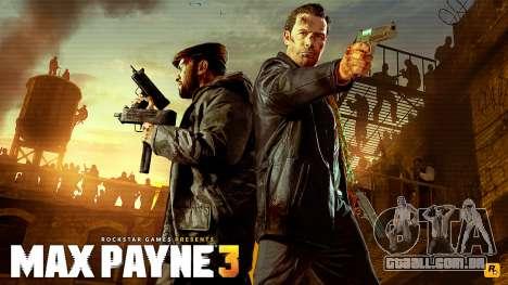 Arranque telas de Max Payne 3 HD para GTA San Andreas