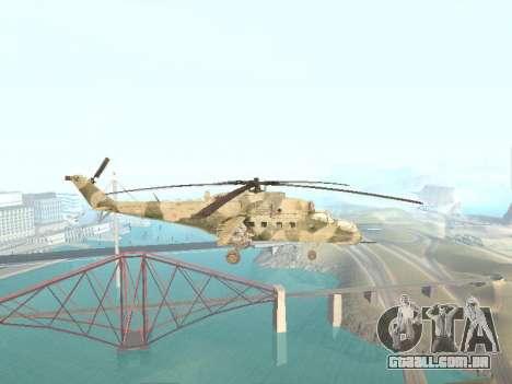 Mi-35M para GTA San Andreas esquerda vista