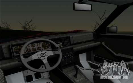 Lancia Delta HF Integrale Evo2 para GTA San Andreas vista traseira