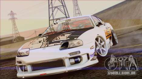 Toyota Supra 1998 Top Secret para GTA San Andreas vista direita