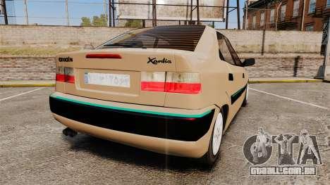 Citroen Xantia para GTA 4 traseira esquerda vista