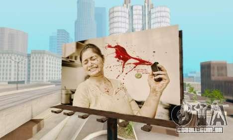 Novo de alta qualidade publicidade em cartazes para GTA San Andreas terceira tela