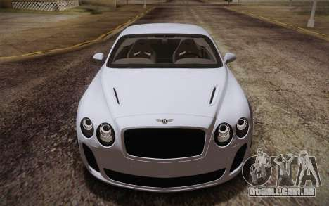 Bentley Continental SuperSports 2010 v2 Finale para vista lateral GTA San Andreas